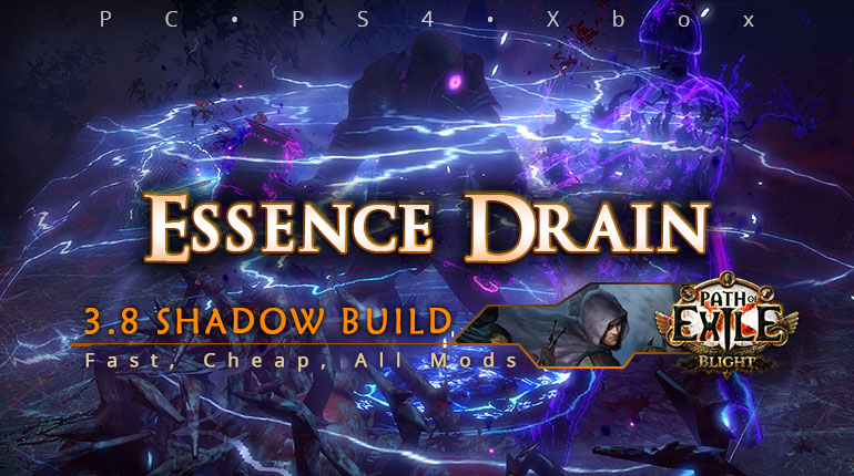 Shadow] PoE 3 8 Essence Drain Trickster Fast Build (PC, PS4